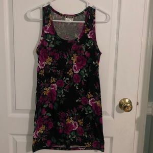 Floral body con dress! Great for fall